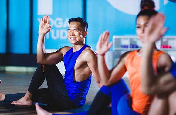 Celebrity Fitness Thailand Hot Yoga Class 2