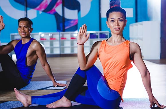Celebrity Fitness Thailand Hot Yoga Class 8